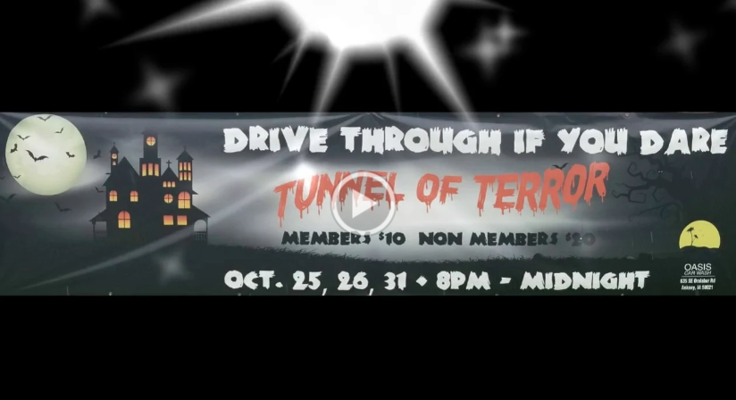 Oasis' Tunnel of Terror promo for Halloween
